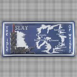 "Blechschild ""Islay – The Isle of Whisky"" (ca. 29,5 × 14,5 cm)"