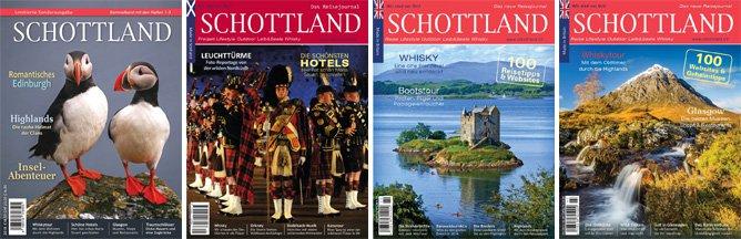 Schottland – Das Reisejournal, Sammelband Ausgaben 1–3